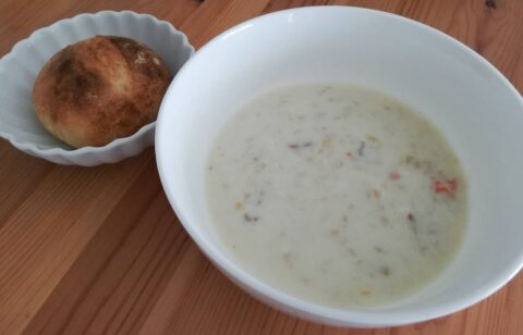 Pan&スープの鉄分補給のクラムチャウダー